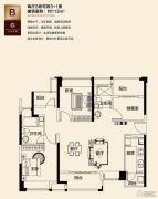三水万达广场2室2厅0卫113平方米户型图