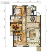 远洋荣域3室2厅1卫108平方米户型图
