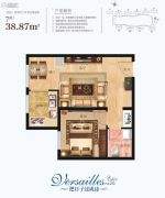 凡尔赛诗城1室1厅1卫0平方米户型图