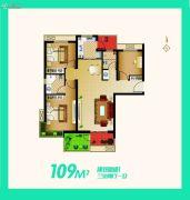安联生态城3室2厅1卫109平方米户型图