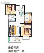 漯北新城2室2厅1卫80平方米户型图