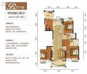 王家湾中央生活区4室2厅2卫137平方米户型图