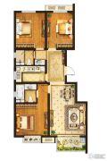 中垠紫金观邸3室2厅2卫109平方米户型图