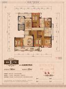 丽江半岛5室2厅2卫180平方米户型图