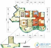 华业临海5室2厅2卫211平方米户型图
