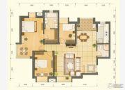 鸿丽家园3室2厅1卫106平方米户型图