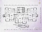 锦绣国际花城3室2厅2卫133平方米户型图