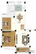 水岸帝景 多层2室2厅1卫65平方米户型图