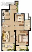 俊发・观云海2室2厅1卫0平方米户型图
