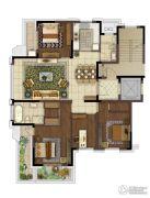 中冶盛世滨江4室2厅2卫150平方米户型图
