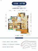 碧桂园・生态城3室2厅2卫108平方米户型图