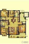 荣记玖珑湾4室2厅2卫173平方米户型图