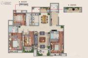 西岸18724室2厅3卫165平方米户型图
