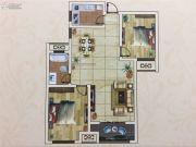 六和世家2室2厅1卫102--103平方米户型图