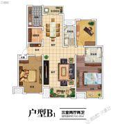 建业北海森林半岛3室2厅2卫140平方米户型图