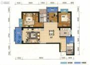 俊发盛唐城3室2厅2卫115平方米户型图