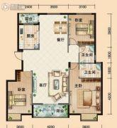 鸿发・东门华府3室2厅2卫126平方米户型图