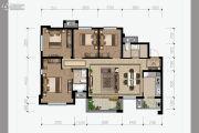 花样年香�T第4室2厅2卫128平方米户型图
