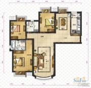 新华联运河湾3室2厅2卫149平方米户型图