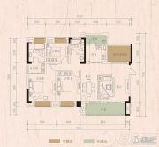 远大美域3室2厅2卫0平方米户型图