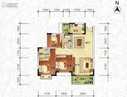 天琴湾3室2厅2卫89--100平方米户型图