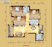 香岸华府二期3室2厅2卫128平方米户型图