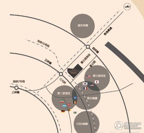 绿地金融中心区位图