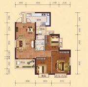 恒大御府3室2厅1卫102平方米户型图