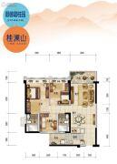 顺德碧桂园3室2厅2卫93平方米户型图
