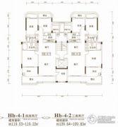 联投金色港湾4室2厅2卫109平方米户型图