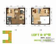 BOBO悠乐城0室0厅0卫48平方米户型图