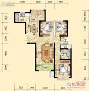 元森北新时代4室2厅2卫136平方米户型图