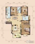 半山壹号3室2厅2卫140平方米户型图