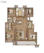 万科城4室2厅2卫146平方米户型图