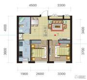 荟萃园2室2厅1卫72平方米户型图