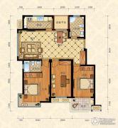 城南春天3室2厅2卫113平方米户型图
