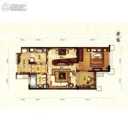 天隆三千海1室2厅1卫76平方米户型图