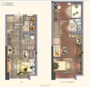 阳光城・大都会3室1厅2卫39平方米户型图