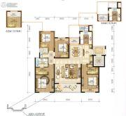 永强朗城公馆4室3厅2卫143平方米户型图
