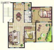 台北城上城3室2厅1卫0平方米户型图