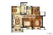 保利西江月3室2厅1卫90平方米户型图
