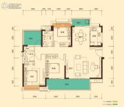 奥园誉山湖3室2厅2卫129平方米户型图