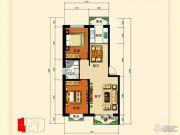 龙昱华府2室2厅1卫92平方米户型图