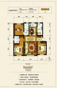 银河太阳城四期3室2厅2卫121平方米户型图