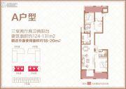 国瑞中心中央公馆3室2厅2卫124--131平方米户型图