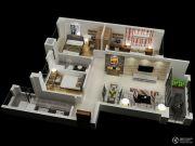 台山碧桂园3室2厅1卫110平方米户型图