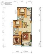 济南恒大奥东新都3室2厅2卫134平方米户型图