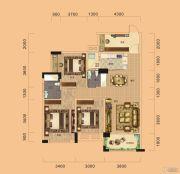 海伦堡东方4室2厅2卫132平方米户型图