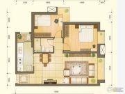 丽都家园2室2厅1卫87平方米户型图