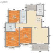 城虢和院3室2厅2卫113平方米户型图
